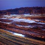 Roztopy na polach wsi Feliksówka