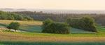 Panorama widziana z pól między Górami Wapniarką i Młynarką
