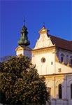 Kwitnące kasztany pod katedrą