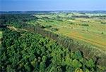 Spojrzenie z lotu ptaka na Roztocze Środkowe z Góry Wapniarki na północ od Józefowa