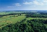 Widok z lotu ptaka na Roztocze Środkowe - okolice wsi Górniki