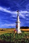 Przydrożny krzyż koło Kolonii Kondrackiej