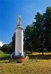 Figura Matki Bożej - przed cmentarzem z I Wojny Światowej - na północ od Radecznicy