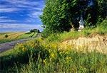 Przydrożny krzyż na górze za wsią Hutków, jadąc do Krasnobrodu