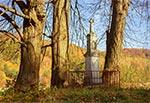 Figura przydrożna w okolicy Jędrzejówki, przy drodze polnej  z Chłopkowa do Hoszni Ordynackiej