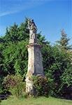 XVIII wieczna figura hiszpańskiego Dominikanina św. Wincentego Ferreriusza w Krasnobrodzie