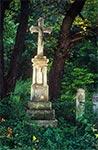 Krzyż z roku 1902, w nieistniejącym przysiółki w rejonie Werchraty - Zające. (Stan po renowacji)
