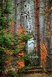Krzyż z roku 1902 w nieistniejąceym przysiółku Werchraty - Niedźwiedziach. Stan sprzed renowacji