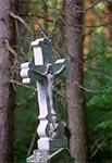 Krzyż z roku 1902 w nieistniejąceym przysiółku Werchraty - Niedźwiedziach. Stan po renowacji