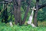 Krzyż z roku 1902, w nieistniejącym przysiółki w rejonie Werchraty - Zające. (Stan sprzed renowacji)
