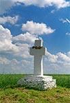 Krzyż z roku 1848 - za starym cmentarzem w Starym Lublińcu
