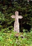 Krzyż przydrożny przed skrętem na cmentarz w Bruśnie Starym