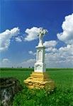 Krzyz z roku 1916 - za starym cmentarzu w Starym Lublińcu w stronę Ułazowa