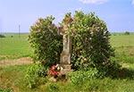 Krzyż z roku 1918 Na polach koło Radruża - przy drodze do granicy