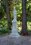 Figurka Matki Bożej na krańcu Huty Złomy z roku 1907, po renowacji