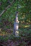Krzyż z roku 1915 w okolicy nieistniejącego przysiółka Manczury za Starą Hutą