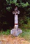 Krzyż z roku 1868 w miejscowości Prusie niedaleko granicy