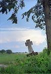 Krzyż z roku 1844 w Nowym Bruśnie - zdjęcie z czasów kiedy był lekko przekrzywiony