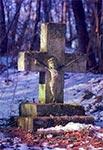 Przydrożny krzyż bruśnieński w nieistniejącej dziś wsi Kołajce (okolice Lubyczy Królewskiej)