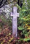 Krzyż z roku 1841 w pobliżu nieistniejącej wsi Chmiele