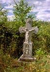 Krzyż w rejonie wsi Mrzygłody - niegdyś za nim był ładny widok na pola i las ale widocznie zaprzestano wycinać krzaki