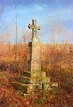 Krzyż przy drodze na Monastyr koło Werchraty