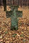 Krzyż na mogile lotnika z I Wojny Światowej koło Nowin Horynieckich (przed renowacją)