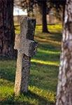Krzyż bruśnieński na cerkiewnym cmentarzu w Bełżcu