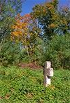 Niewielki cmentarzyk przy cerkwi w Płazowie