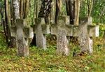 Cmentarzyk żołnierzy austriackich z I Wojny Światowej, na terenie dawnego klasztoru w Monastyrze koło Werchraty.