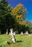 Stara część cmentarza w Horyńcu