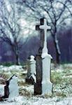 Cmentarz ewangelicki w Podlesiu za Basznią Dolną, z początku XIX wieku - pozostałość po niemieckiej kolonii