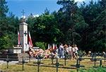 Pomnik na cmentarzu partyzanckim w Osuchach
