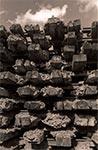 Podkłady kolejowe w Mauzoleum w Bełżcu