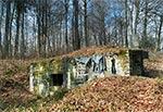 Niedokończona rekonstrukcja bunkra AK w okolicach Kawęczyna. Realizator niestety zmarł nie dokończywszy dzieła