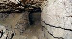 Panorama sztolni - leżące na spągu skały odpadły oczywiście ze stropu lub ścian