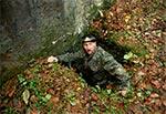 Wyjście z bunkra linii Młotkowego - Hrebcianka
