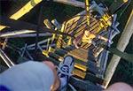 Wieża triangulacyjna runęła samoistnie w rok po wykonaniu tego zdjęcia - Niwki Horynieckie