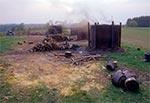Jedyne miejsce gdzie kiedyś na Roztoczu wypalano węgiel drzewny. Przy szlaku na Wielki Dział z Woli Wielkiej