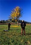 Plener towarzyski z Bartkiem Dybowskim (po lewej) gdzieś między Kaczórkami a Guciowem - niestety to malownicze drzewko ścięto