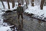 Hartowanie stóp w potoku Brusieńka