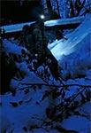 Przedzieranie się nocą debrzami, zasłanymi gałęziami, poprzegradzanymi zwalonymi drzewami, zasypanymi śniegiem - to najtrudniejsze wyzwanie terenowe jakie można znaleźć na Roztoczu.