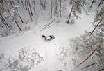 Początek zimowej włóczęgi - widok z wiezy na Górze Brusno