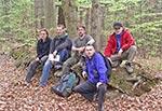 Okolice Wólki Żmijowskiej - od lewej: Marek, Wojtek, Tomek, Mariusz, Robert