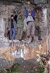 Wesoła ferajna na Hrebciance. Od lewej: - Piotr, Waldek, Mariusz i Tomek, a fotografuje Marek