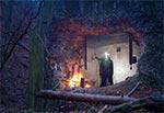 Podczas ciągłych, intensywnych i na dodatek całodniowych opadów deszczu zimą, pojawia się problem z rozpaleniem ognia oraz utrzymaniem go przy życiu, aby ogrzać siebie, jadło i napitek. Musimy wówczas rozpalić ognisko pod dachem. Wiaty drewniane nie za bardzo się nadają, bo zwykle są tam ławy i nie ma miejsca na ognisko, a wciśnięcie go na siłę może sprawić, że sama wiata stanie się ogniskiem. Bunkier na pewno się nie zapali. Wprawdzie ściana jest odstrzelona i mieliśmy przewiew ale uwędzenia przyodziewku i tak nie uniknęliśmy. Pomysł więc dobry jedynie w przypadku sytuacji silnej desperacji ;) To schron przy Krągłym Goraju