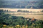 Widok z wieży P-Poż na Górze Brusno - na zdjęciu obszar między Hrebcianką a Polanką Horyniecką