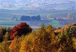 Spojrzenie z wierzchowiny na Dolinę Gorajca