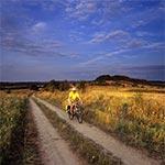 Droga w rejonie Łysych Byków latem