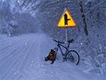 Droga z Zamościa do Krasnobrodu przez Suchowolę w moich ulubionych zimowych warunkach - intensywne opady śniegu! Wówczas jest stosunkowo ciepło, mimo mrozu. Do tego niewiele plącze się aut na drogach oraz nie ma solankowego błota na jezdni.